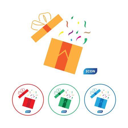 Gift Box Icon Vector Illustration design Illustration
