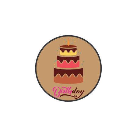 Cake sign icon vector illustration design template Ilustração