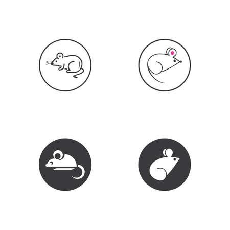 Mouse animal vector.Rat logo icon vector design template Logo