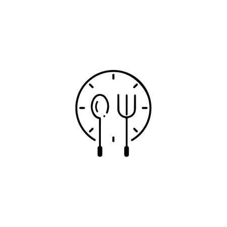 Fork, knife and spoon icon logo vector template.design for restaurant