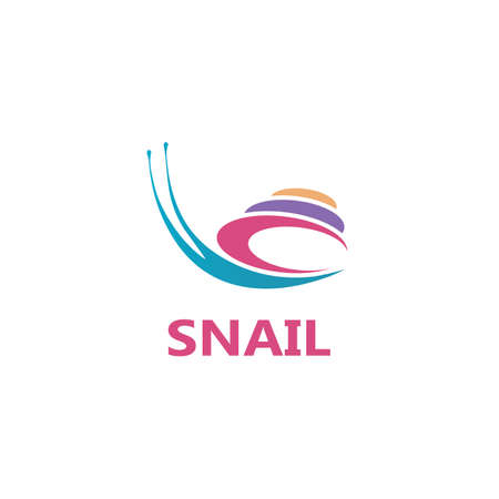 Snail illustration vector template icon design