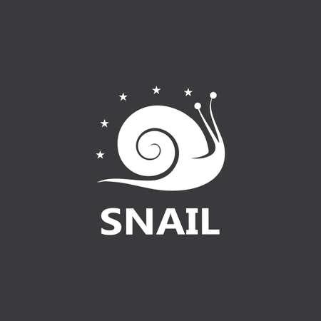 Snail logo illustration vector template icon design