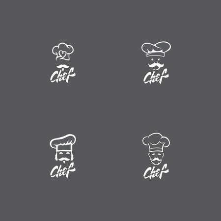 hat chef logo template vector illustration
