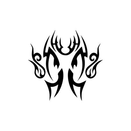 tribal ethnic tattoo icon vector illustration design template