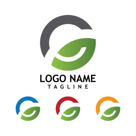 G Letter Logo Template vector icon illustration design Logó