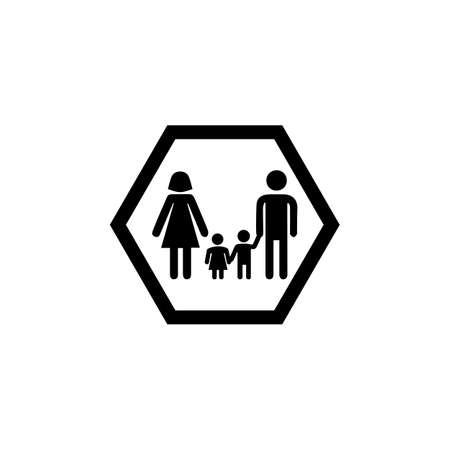 Family icon isolated on white background. Very Useful Icon of Family for Web & Mobile Vectores