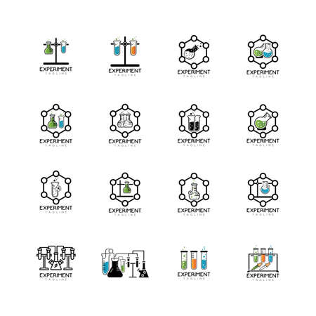 Medical Test tube Icon Vector Illustration. Laboratory glassware Icon Design on white Background