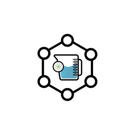 Medical Test tube Icon Vector Illustration. Laboratory glassware Icon Design on white Background