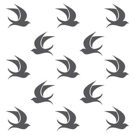 creative logo design Swallow bird logo vector template illustration