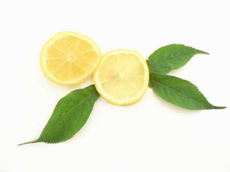 Closeup of a fresh lemon. Stock Photo