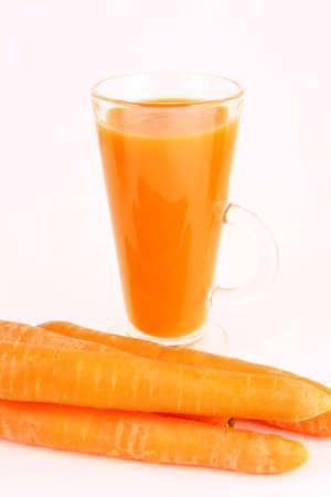 closeups: Fresh carrot juice isolated- cooking vegetarian health