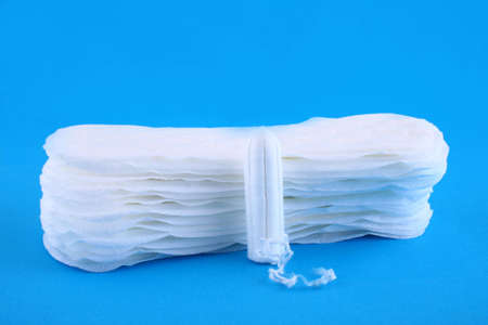 tampon over blue photo