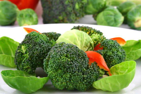 Lightly cooked broccoli pieces with a touch of butter
