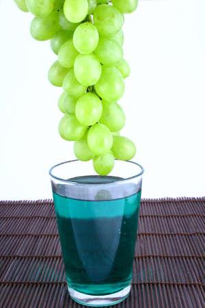 musli: on diet - milk musli and grapes close-ups