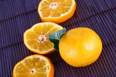 Orange Ripe tangerines on a white background Stock Photo - 2476103