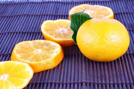 Orange Ripe tangerines on a white background Stock Photo - 2476118
