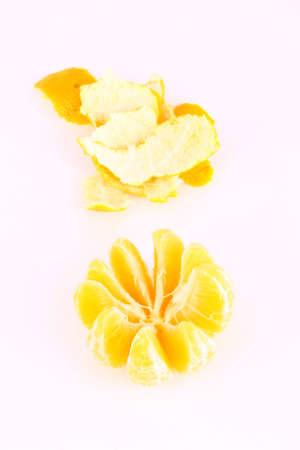 Orange Ripe tangerines on a white background Stock Photo - 2476041