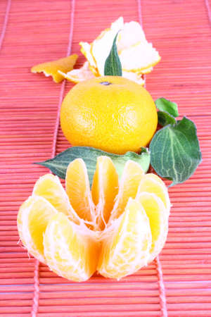 Orange Ripe tangerines on a white background Stock Photo - 2476104