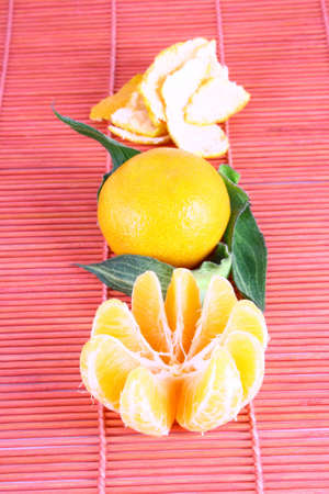 Orange Ripe tangerines on a white background Stock Photo - 2476124
