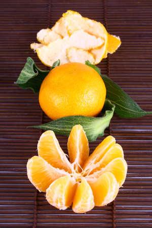 Orange Ripe tangerines on a white background Stock Photo - 2476109