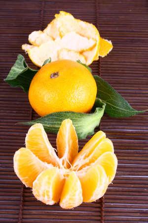 Orange Ripe tangerines on a white background Stock Photo - 2476116