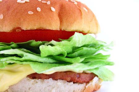 Big Juicy Classic Beef Burger Stock Photo