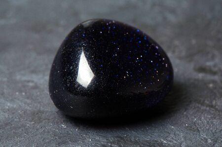 Aventurine blue. Semi-precious or ornamental stone, a kind of quartz