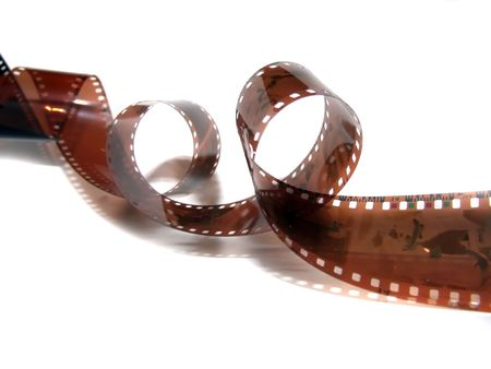 Film strip roll isolated.