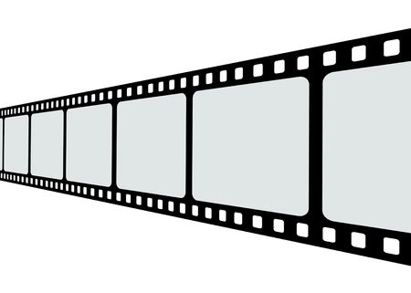 35mm: Film strip roll isolated.