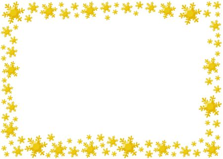 Decoration snow flake isolated background for frame. Stock Photo