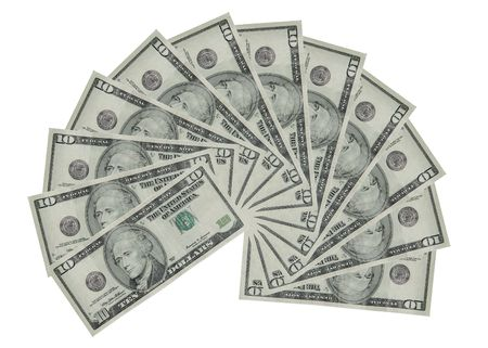 capitalist: American currency. Stock Photo