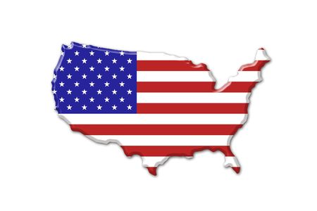 American flag and map