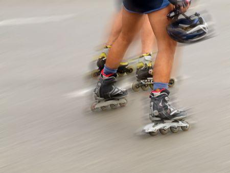 rollerblade: Roller blading speed.