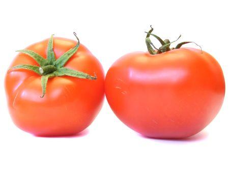 Tomato against white. photo