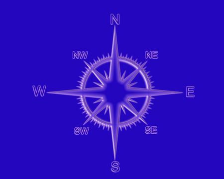 Orientation equimpment over blue (sea) background. Stock Photo - 1447840