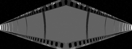 Filmstrip over space. photo