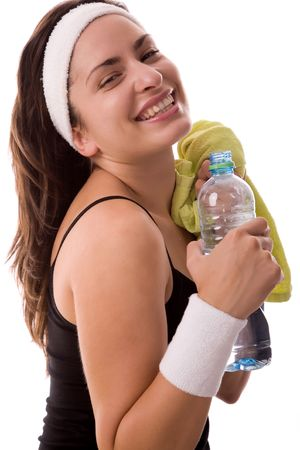 Fitness girl rest after exercising. Stock Photo - 1914014