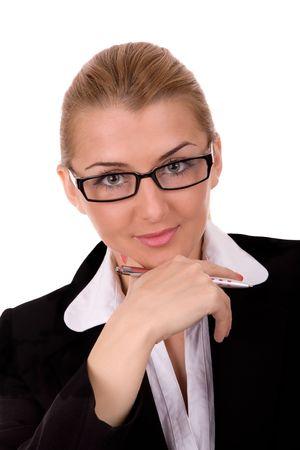 Portrait of beauty business woman. Stock Photo - 2198612