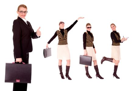 intelligently: Successful businesswoman. Stock Photo