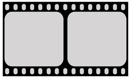 negativity: Film strip illustration. Stock Photo