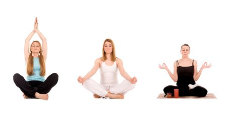 Yoga pose by young woman. Stock Photo - 2994577