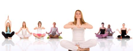 Yoga pose by young woman. Stock Photo - 3004115