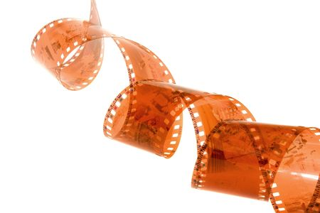 Film strip roll over white background. photo