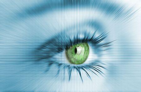 hypnotise: Abstract woman eye closeup.