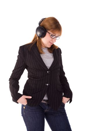 Beautiful young woman withheadphones. Stock Photo - 3433446