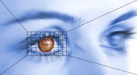 Eye system security identification. Stock Photo - 3813115