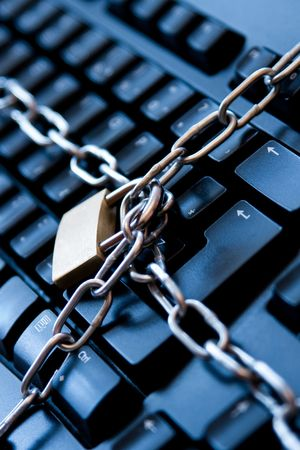Internet security concept by chain keyboard. Stock Photo - 3839738