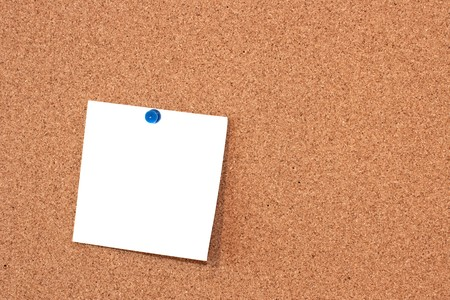Note pad on corkboard table. Stock Photo - 4272206