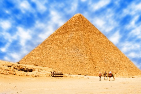 Pyramids in egypt. photo