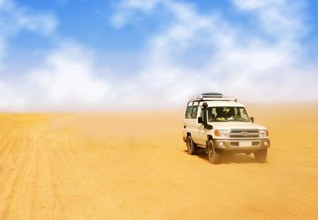 jeep safari in desert